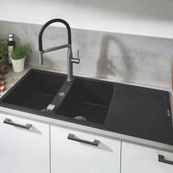 Grohe K500 80-C 116/50 2.0 Composite mosogató, gránit fekete 31647AP0