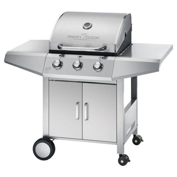 ProfiCook PC-GG 1057  ezüst grill, görgős gázgrill