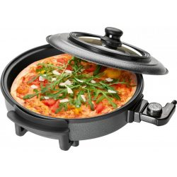 Clatronic PP 3402 fekete 36x3,5cm Pizza Party főzőedény