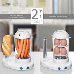 Clatronic HDM 3420 EK N fehér hotdog készítő