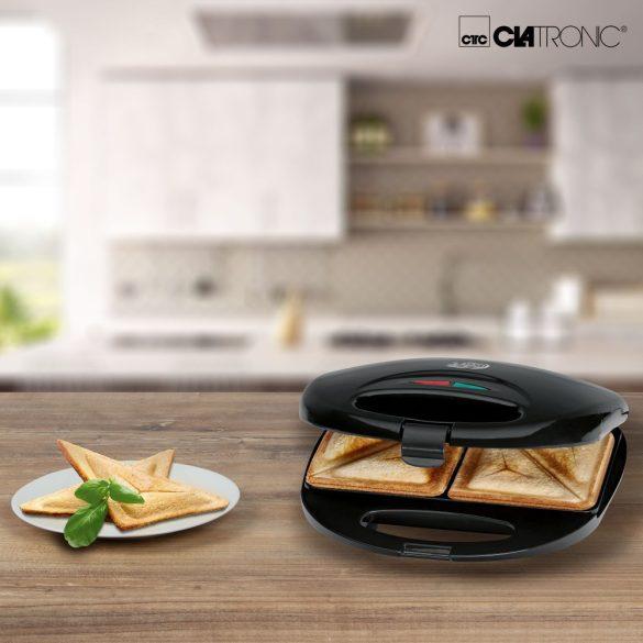 Clatronic ST 3477 fekete szendvics sütő