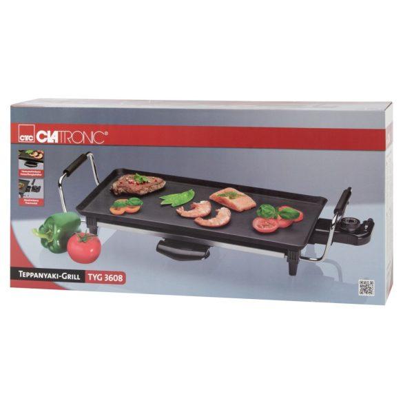 Clatronic TYG 3608 fekete 2000 W teppanyaki grill