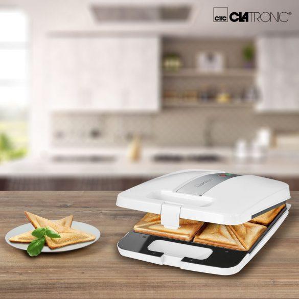Clatronic ST 3629 fehér 4 fach szendvics sütő