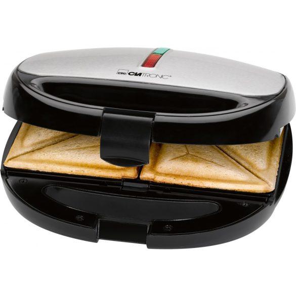 Clatronic ST/WA 3670 fekete-inox 3 in 1 szendvics sütő szett