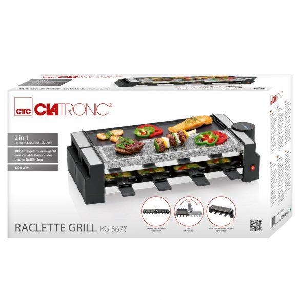 Clatronic RG 3678 fekete 8 Pfännchen raclette grill