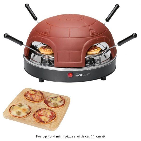 Clatronic PO 3681 Terrakotta 900W pizzasütő