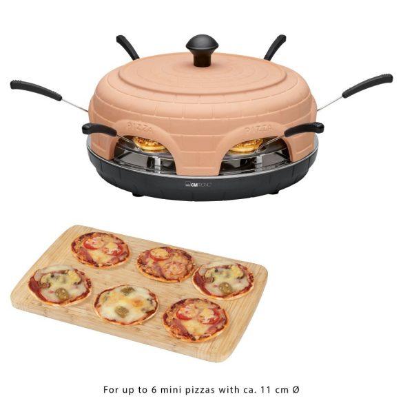 Clatronic PO 3682 Terrakotta 1100W pizzasütő