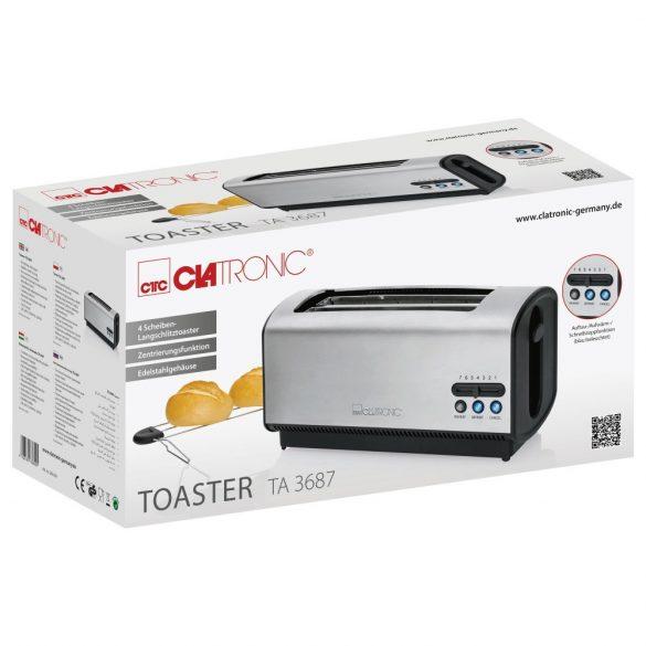 Clatronic TA 3687 inox kenyérpirító