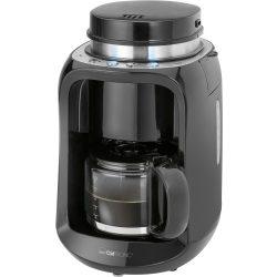 Clatronic KA 3701 fekete-inox kávéfőző, darálóval