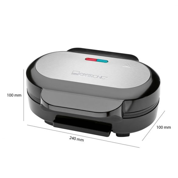 Clatronic HBM 3696 fekete-inox grill, hamburger
