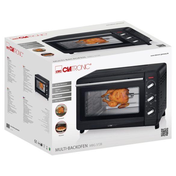 Clatronic MBG 3728 fekete mini sütő