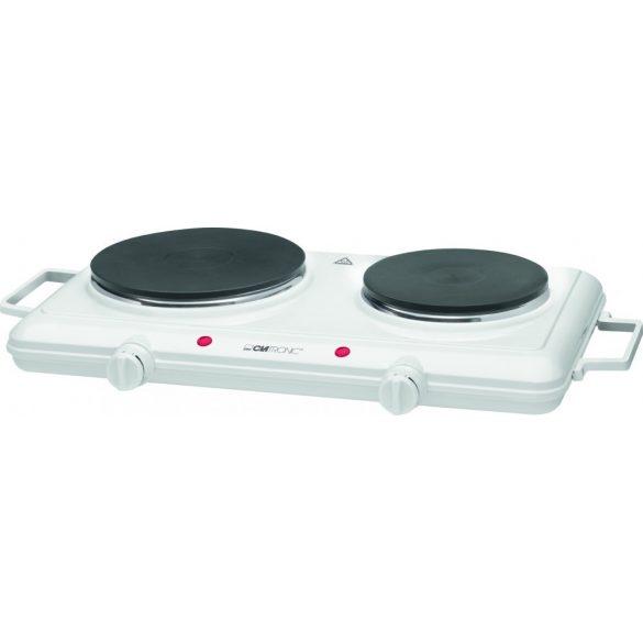Clatronic DKP 3583 fehér 1000/1500W elektromos főzőlap, dupla