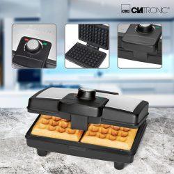 Clatronic WA 3606 ix 800W ETM gut 05/17 gofrisütő