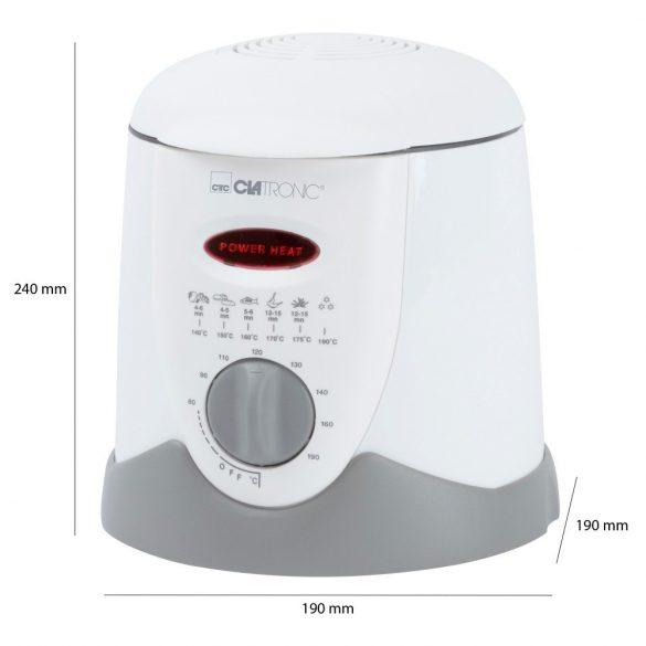 Clatronic FFR 2916 fehér 1L 900W olajsütő/fondue készítő
