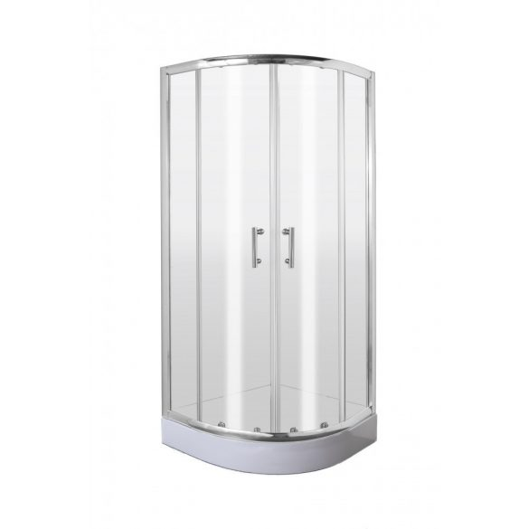 Deante KGJ 051P Félkör alakú zuhanykabin 90 cm, átlátszó üveg