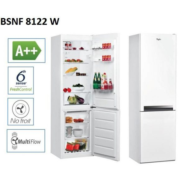 Whirlpool BSNF 8122 W Kombinált hűtő