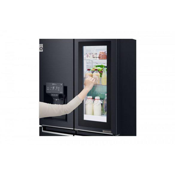 LG GMX844MCKV Keskeny, négyajtós hűtőszekrény lineáris inverter kompresszorral